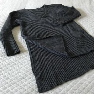 H&M Rib Knit V-Neck Sweater Tunic